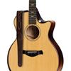 "Taylor 2"" Vegan Leather Guitar Strap Chocolate Brown"