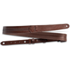 """Taylor Slim 1.5"""" Leather Guitar Strap Chocolate Brown"""