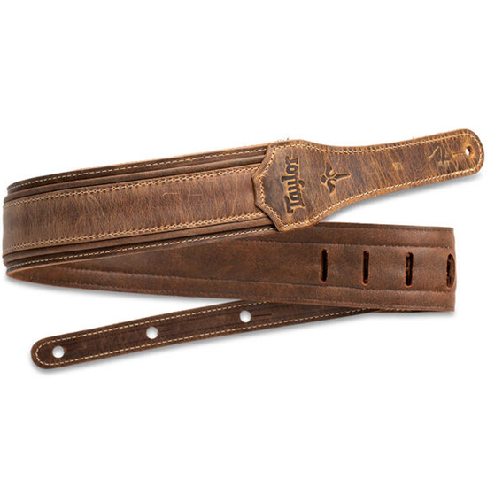"""Taylor Wings Distressed 3"""" Leather Guitar Strap"""