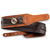 """Taylor Grand Pacific 3"""" Nickel Concho Leather Strap Brown"""