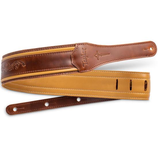 """Taylor Nouveau 2.5"""" Leather Guitar Strap"""