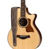 "Taylor Element Distressed 2.5"" Leather Guitar Strap Dark Brown"