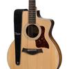 "Taylor 2.5"" Embroidered Suede Guitar Strap Black"