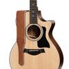 "Taylor Gemstone 2.5"" Sanded Leather Guitar Strap Medium Brown"