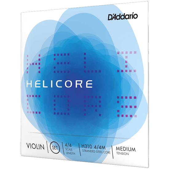 D'Addario Helicore Violin String Set 4/4 Scale Medium Tension
