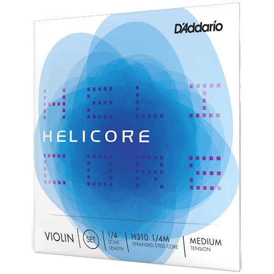 D'Addario Helicore Violin String Set 1/4 Scale Medium Tension