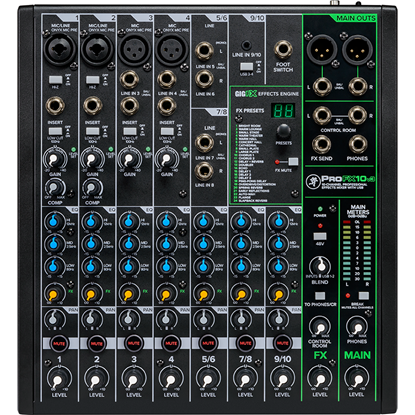Mackie ProFX10v3 Professional Effects Mixer With USB